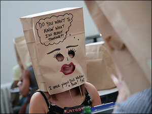 Love-seekers take to 'Paper Bag Speed Dating'