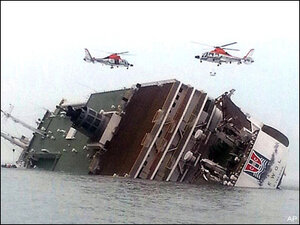 Teens describe narrow escape from sinking Korean ferry