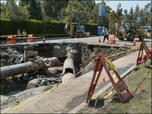 Repairing burst Los Angeles main could take days