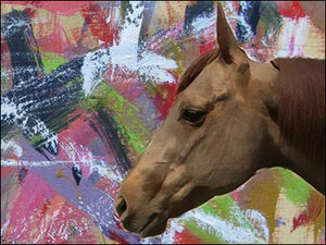 Horse learns how to paint