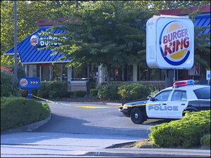 Man stabbed to death at busy Burger King in Bellevue