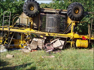 Berry harvester overturns, injures 6 farm workers
