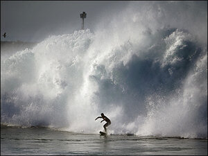 Southern California gets more waves as storm eases