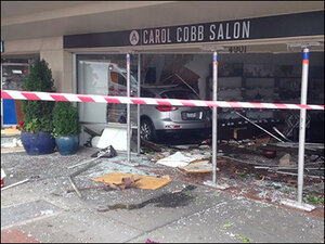 SUV plows into S. Seattle hair salon; 7 hurt, building unstable
