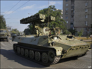 Ukraine accuses Russia of sending in tanks, armor