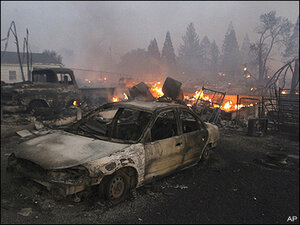 Officials: Calif. wildfire destroyed, damaged 200 homes