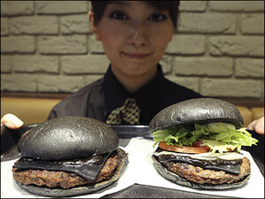 New burger boasts black buns and cheese, and squid ink