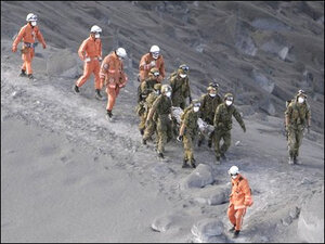 At least 31 believed dead at Japanese volcano