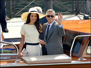 They did. They do. Clooney-Alamuddin wedding No. 2