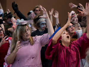 Zombies roam Eugene streets, prepping for 'Thrill The World'