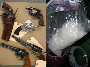 Man swallows meth in Myrtle Creek raid that leads to guns, drugs