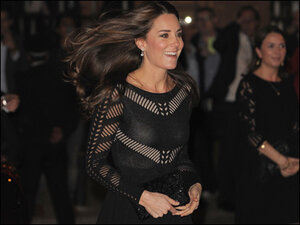 Photos: Duchess Kate Middleton shows off baby bump