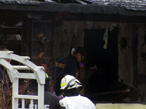 Man charged with murder in duplex fire that killed father