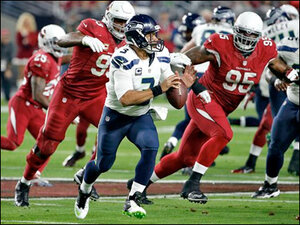 Seahawks demolish Cardinals 35-6, close in on NFC West title