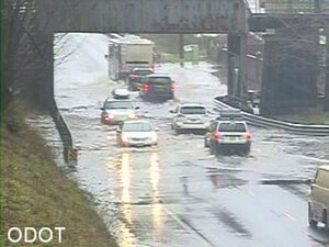 Water causing problems on some Oregon roads
