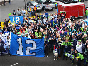 Photos: Blue Friday fever spreads across Northwest