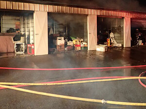 Roseburg man charged with arson in Diamond Lake Mini Storage fire
