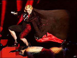 Madonna: Hit my head, got whiplash in dramatic stage tumble