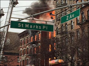 At least 12 injured in New York City fire, building collapse