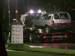 Man faces attempted murder for rolling minivan on purpose, child OK
