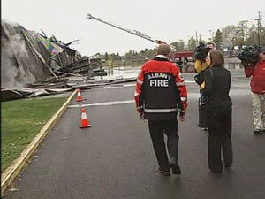 Gov. Kate Brown visits South Albany HS in wake of fire