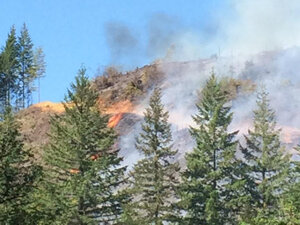 Two homes & church camp evacuated as Sandy Creek fire burns in Coos County