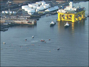 24 activists detained as Arctic oil rig heads out of Seattle