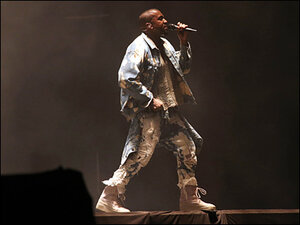 Prankster invades Kanye West stage at Glastonbury festival