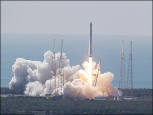 SpaceX launch ends in failure, rocket erupts