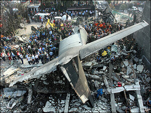70 killed as Indonesian military plane crashes