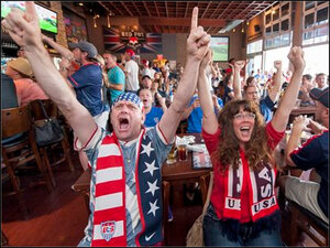 Photos: Americans cheer U.S. women's soccer team to victory