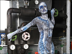 Photos: Body paint artist goes all out