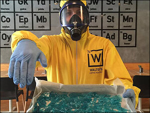 Photos: Istanbul coffee shop pays homage to 'Breaking Bad'