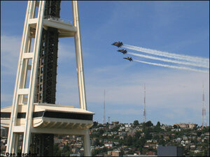 Photos: Blue Angels scream by Space Needle