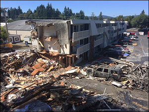 Police: Man stepped on gas line before motel explosion