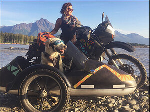 Woman goes on epic cross-country adventure...with her dog!