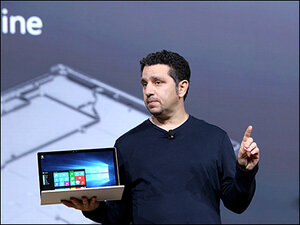 Microsoft unveils new Surface laptop, phones, fitness tracker