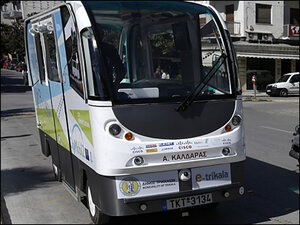 Greek town glimpses mass transit future: driverless buses