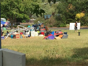 Campers pack up, move from site on Hilyard Street
