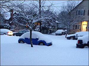 Photos: A snowy morning in Oregon and Washington