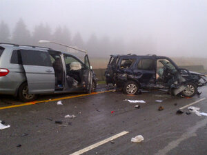 Man faces hit-and-run charges after crashes on I-205