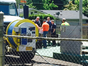 Police investigating possible body in sewage facility