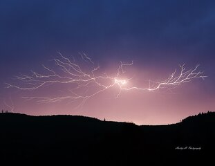 Lightning over the Coburg Hills 8-10-14