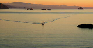 the FV Paiute returning to Port Orford
