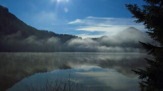 Foggy Morning at Loon Lake