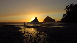 Sunset at Heceta Head State Park Beach