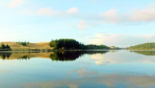 Peaceful Bay & Dunes Reflection