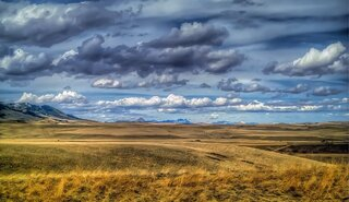 The plains of Montana