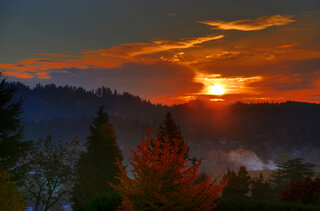 Beautiful Autumn sunrise