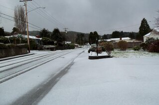 Snow in Reedsport!